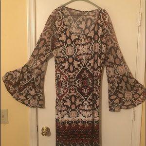 Women's multi colored sheath dress - size 18/20